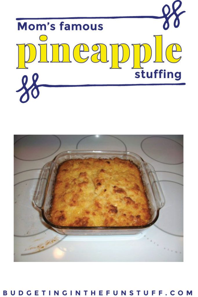 Yum! This is a huge hit at Thanksgiving and Christmas with my family. Mom's Favorite Pineapple Stuffing is delicious and such a fun twist on a traditional recipe, to keep meals fun and change them up a bit. This recipe lists prices so it's nice to know it is a cheap side dish, too.