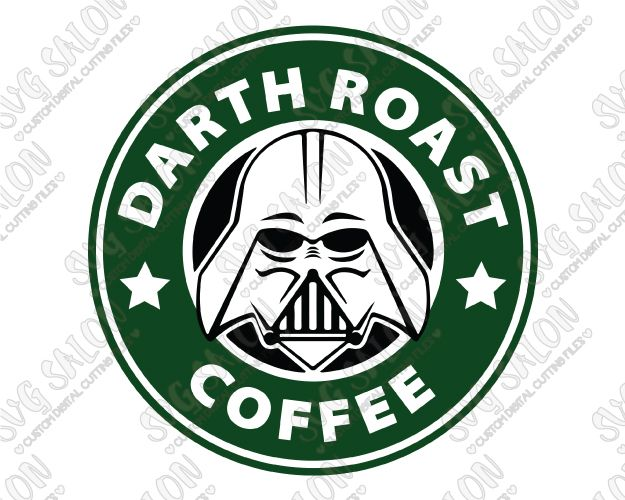 Darth Roast Coffee Cut File In Svg Eps Dxf Jpeg And