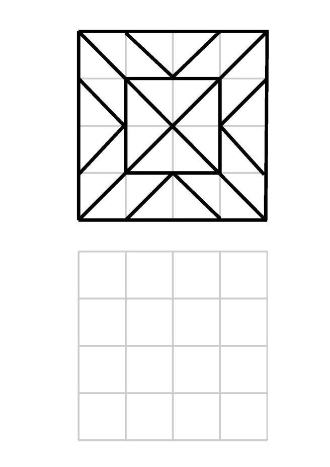 muster nachzeichnen im 4 4 raster made by me muster nachzeichnen und arbeitsbl tter. Black Bedroom Furniture Sets. Home Design Ideas