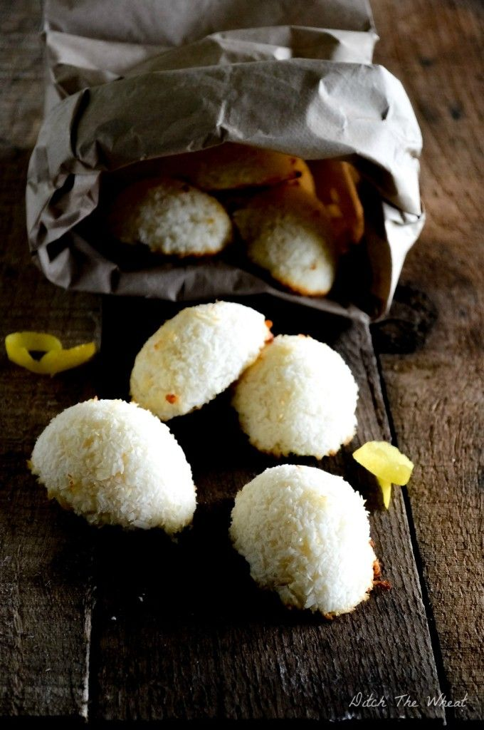 Lemon Coconut Macaroons | Ditch The Wheat