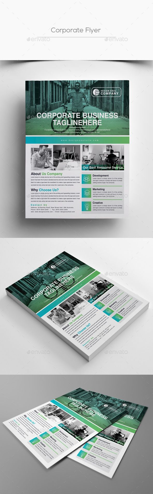 #Corporate #Flyer - Corporate Flyers Download here: https://graphicriver.net/item/corporate-flyer/20175630?ref=alena994