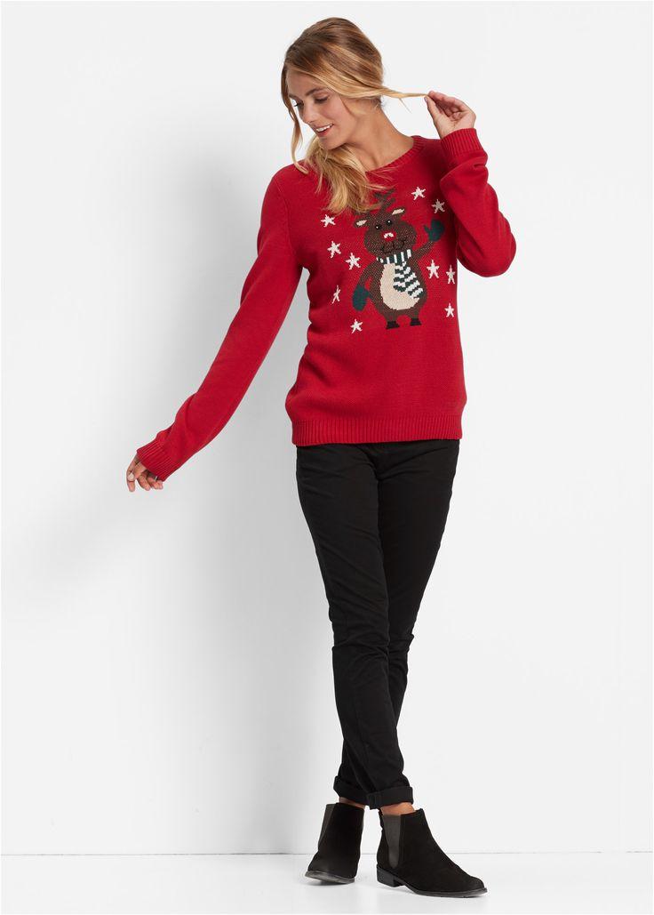 Rundhals-Pullover rot - bpc bonprix collection jetzt im Online Shop von bonprix.de ab ? 24,99 bestellen. Dieser schöne Strickpullover mit geripptem ...