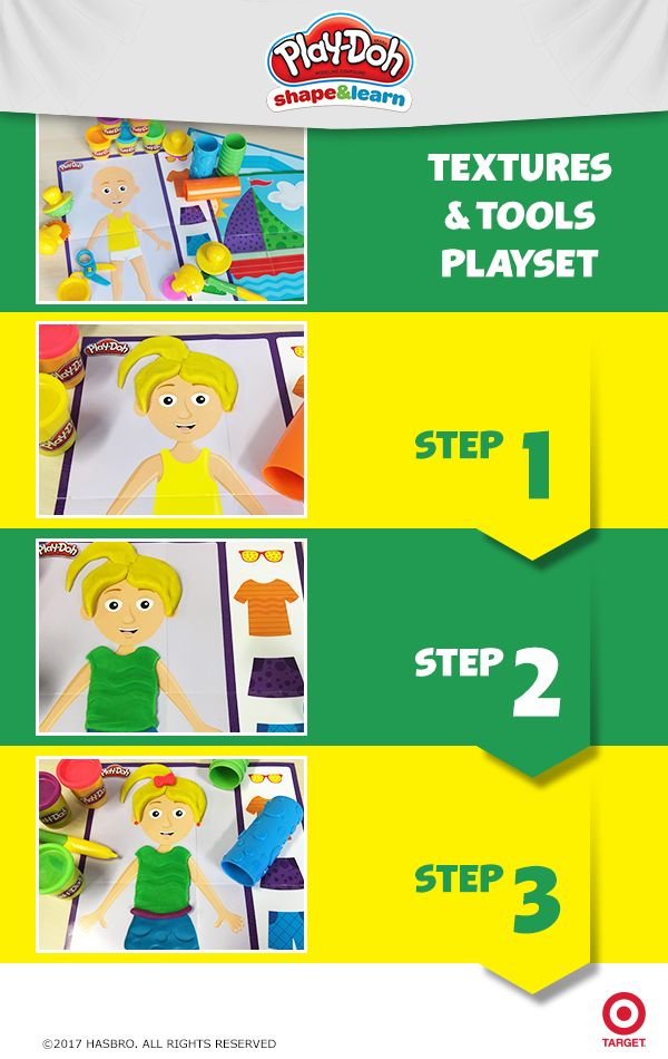 Encourage your little one to become a curious thinker and a confident explorer with the Textures and Tools playset! Help them progress toward success as they practice sensory- motor skills with the included tools, playmats, and Play-Doh compound. Pick it up at Target and start creating!
