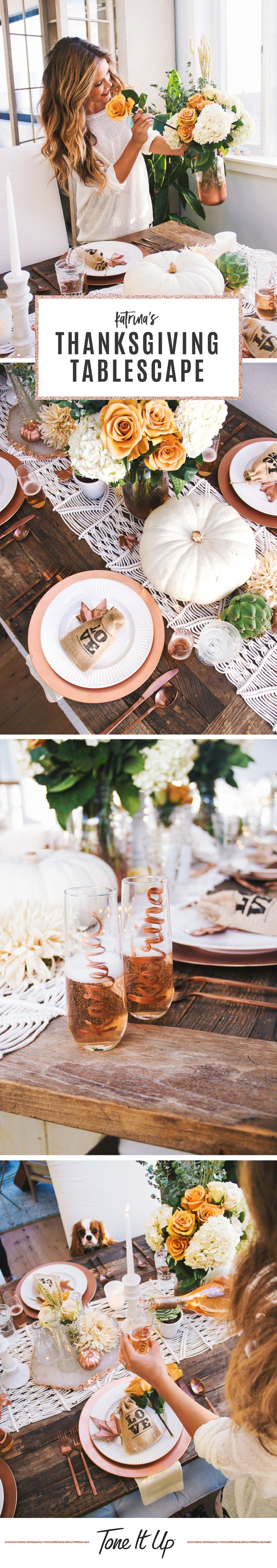 Thanksgiving Decor & Tablescape Inspo ~ from Katrina of Tone It Up
