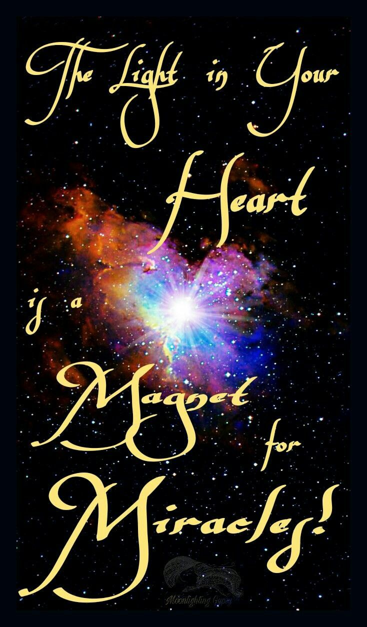 The Light in Your Heart is a Magnet for Miracles! ⊰♡⊱