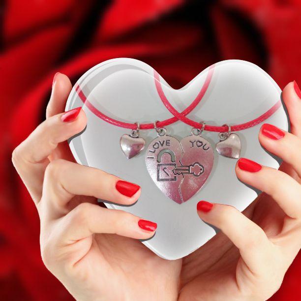 Colgante corazón para parejas ¿quién tiene la llave de tu corazón?
