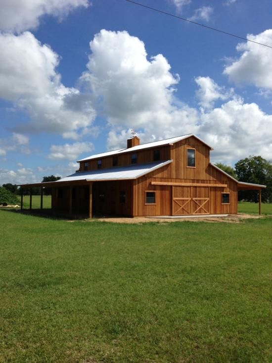 1000 ideas about rustic barn homes on pinterest pole for Custom barn homes