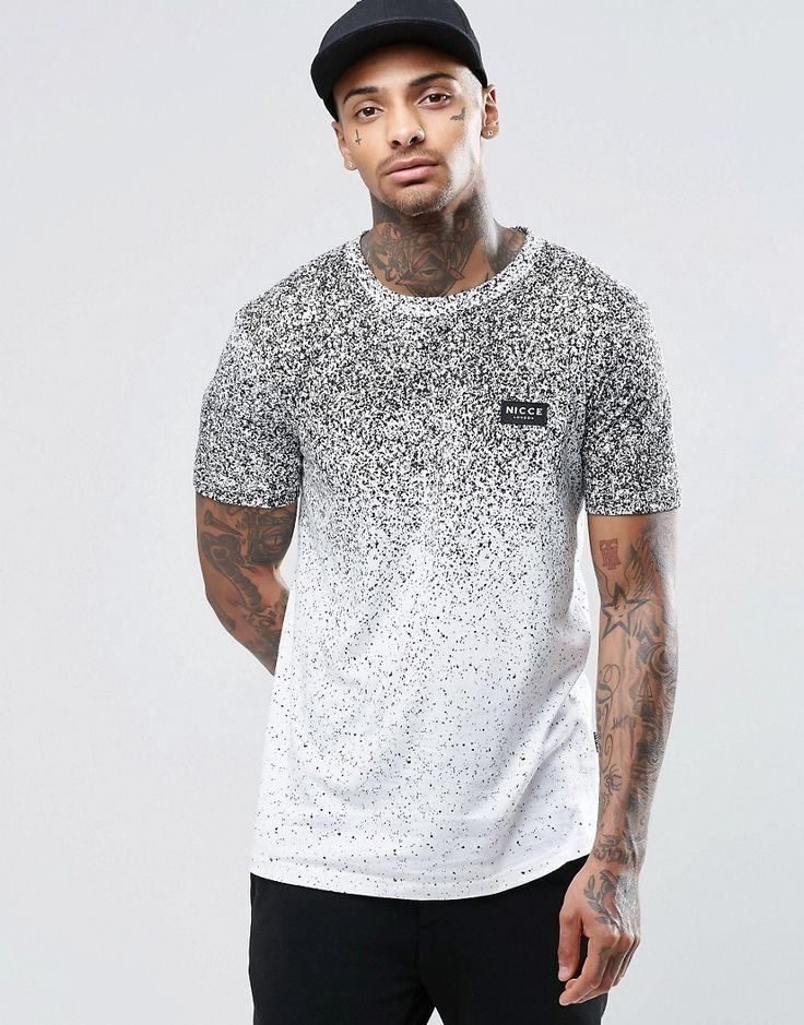 Image 1 ofNicce London T-Shirt With Speckle Fade Print
