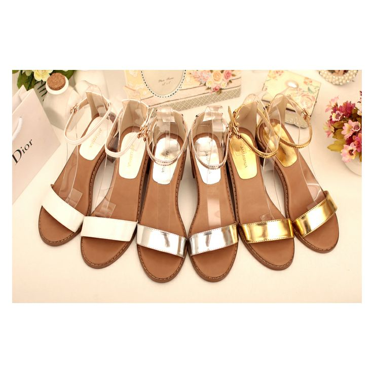 Корейская версия слова пряжкой сандалии партии с открытым носком сандалии в летние 2014 Повседневная мода диких новой обуви - Taobao