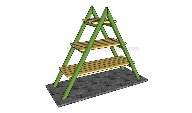 How to build an a-frame plant stand – HowToSpecialist – How to Build, Step by Step DIY Plans