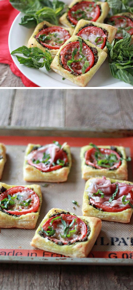Tomato Pesto Tarts | Click Pic for 21 Quick and Easy Snacks to Make | Cheap and Easy Recipes to Feed a Crowd