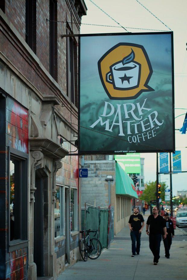 Dark Matter Coffee. Submarine themed interior.  Creativity abounds in Chicago's  Ukranian Village.