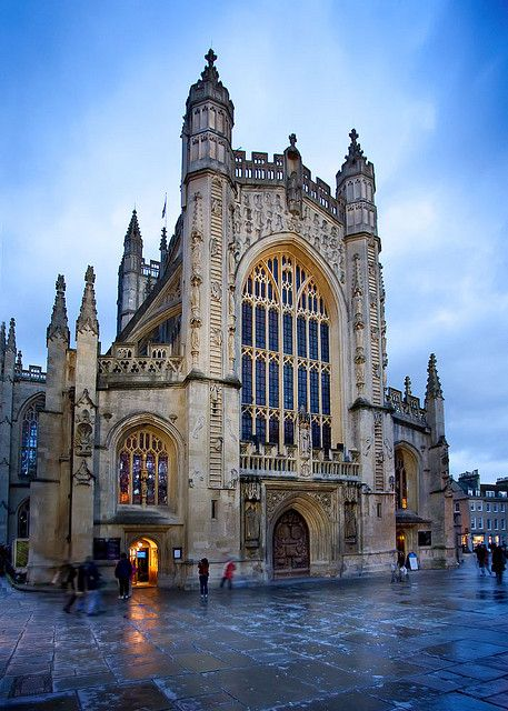 """Gothic Winter""  - Bath Abbey (Abbey Church of St. Peter and St. Paul) Bath, England - [HDR] by Rob Overcash Photography, via Flickr"