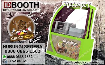 booth unik chocomolt + logo buruaan visit : www.idbooth.net