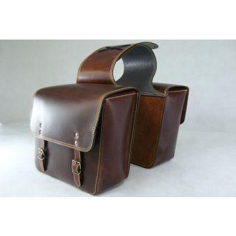 Panniers / Saddle bags for Piaggio Vespa PX/ET/LX/LXV/GT/GTS/GTV Scooters, Vintage Brown