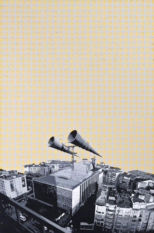 SEYDİ MURAT KOÇ / TEĞET SERİSİ // RADAR 1 - TANGENTIAL SERIES RADAR 1  Tuval Üzerine Yağlı Boya / Oil on Canvas, 220 x 145 cm,2011.