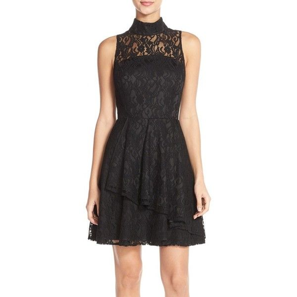 Adelyn Rae Mock Neck Lace Fit Amp Flare Dress 1 175 Mxn