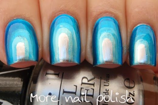 OPI Push and Shove Chrome Step up mani