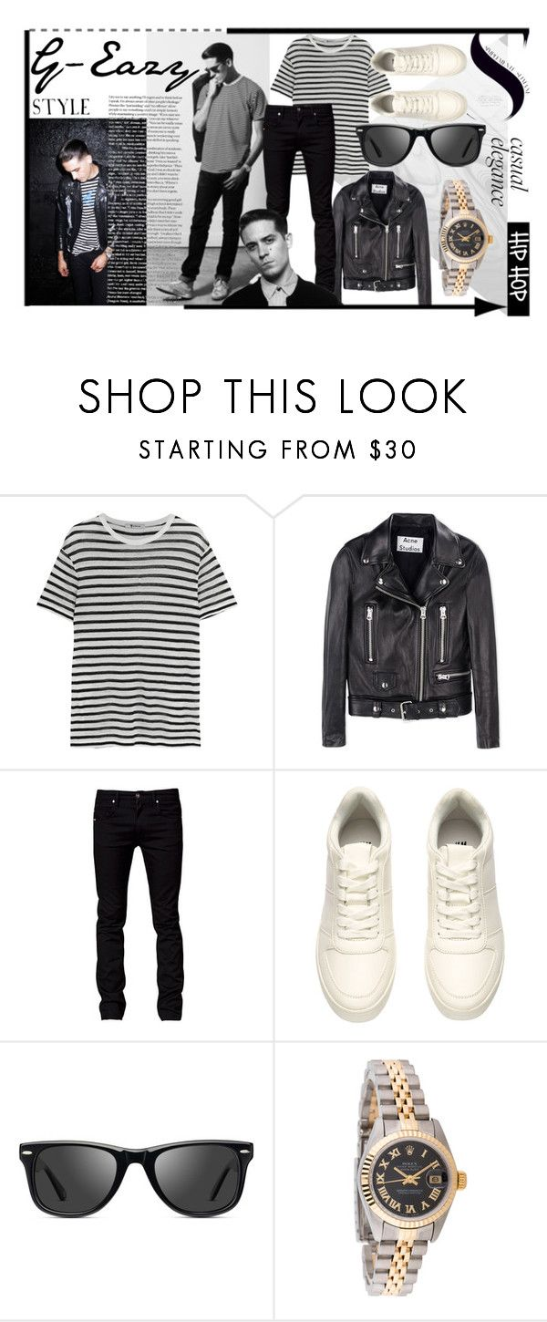 """""""G-Eazy STYLE"""" by ganang-sapto-handoko on Polyvore featuring T By Alexander Wang, Acne Studios, Tiger of Sweden, Muse, Rolex, women's clothing, women, female, woman and misses"""