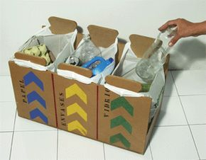 hacer cubos de basura para reciclar de carton - Buscar con Google