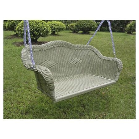 Features:  -Outdoor wicker porch swing.  -Made from premium outdoor wicker resin.  -Swing stand is not included.  -Cushion not included. Corresponding cushion is BLN1031.  -Equipped with a steel frame