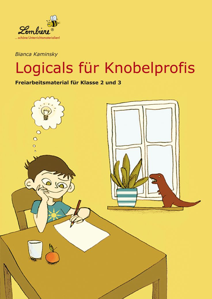 Logicals sind beliebte Rätsel, die Kindern und Erwachsenen Spaß machen: Durch geschicktes Kombinieren von verschiedenen Informationen gelangt man zur Lösung des Rätsels.  #Lernbiene #Grundschule #Unterrichtsmaterial #Logicals #Rätsel #Deutsch #Lesen