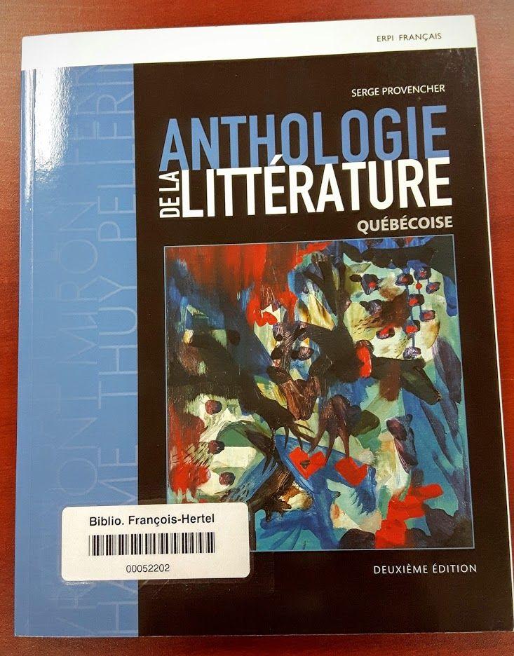 Anthologie de la littérature québécoise (C840.8 P969a)