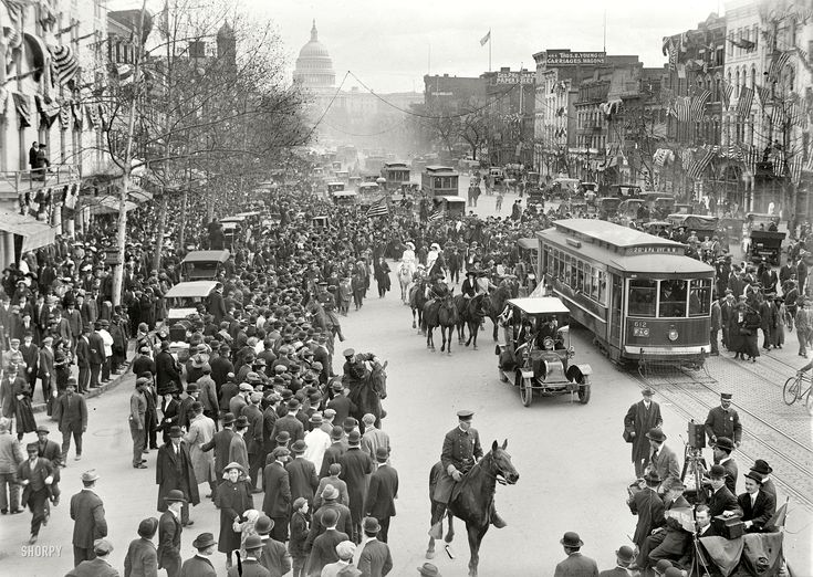 100 Years Ago: a very detailed crowd photo from a 1913 women's suffrage event in Washington DC.
