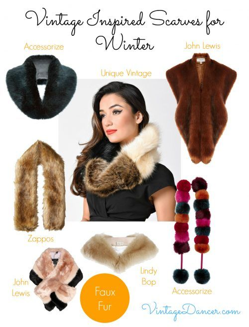 With so many styles of faux fur stoles to choose from, there is sure to be a style to suit your vintage inspired look.