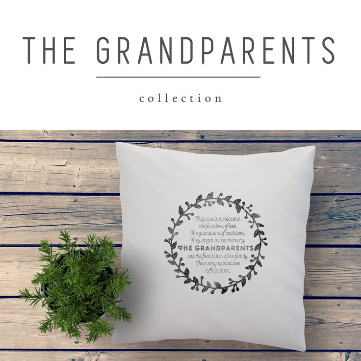 GRANDPARENTS hand printed personalized quote cushions and fabric art prints to show your appreciation for your parents and grand parents by My Home and Yours