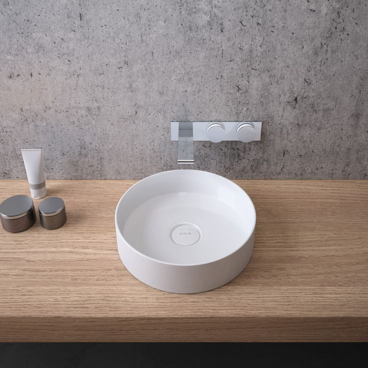 Designed by Christophe Pillet for Vitra, the new Memoria Round Washbasin engages the senses by virtue of its natural lucidity. The distinctive basin, featuring slender, precise lines, brings your bathroom warmth with natural textures achieved by a superior mineralcast material.
