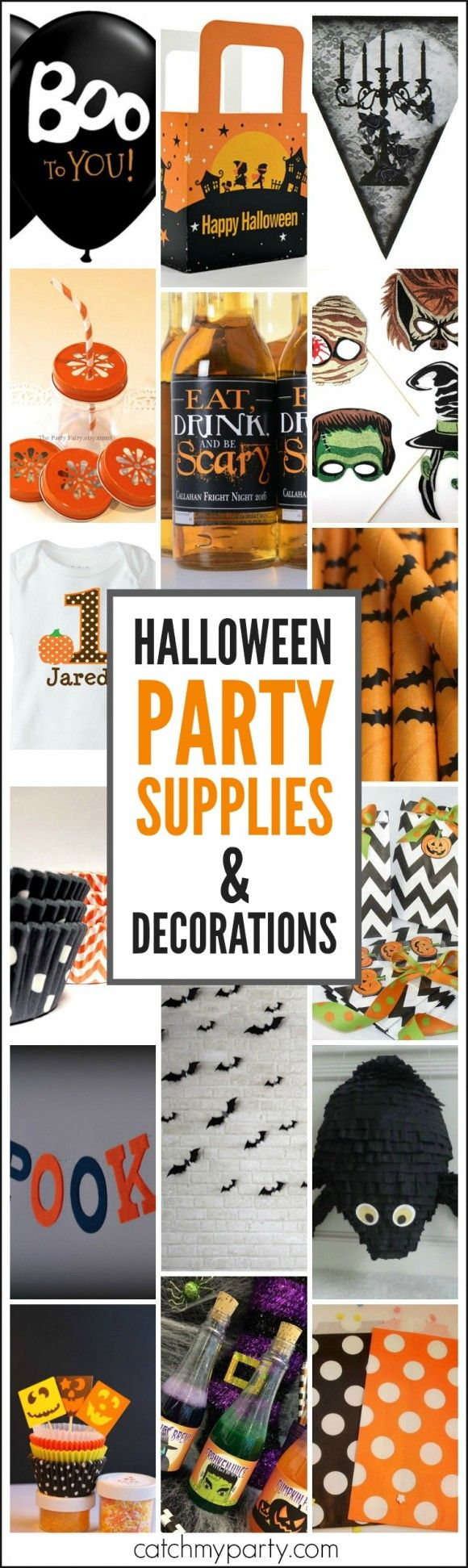 Halloween Party Supplies and Decorations Roundup from small shop owners! | CatchMyParty.com