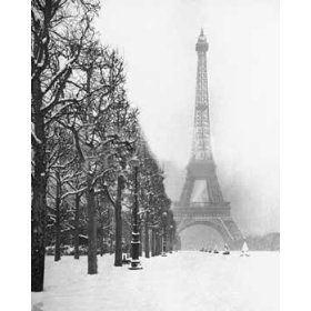 Paris in the snowy winter.