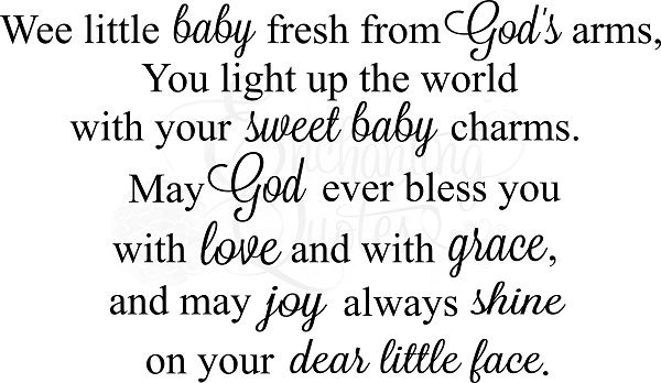Nursery Wall Quotes | Baby Girl, Boy Quotes, Wee Little Baby
