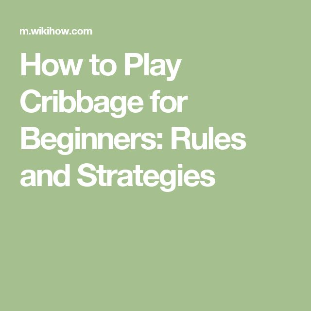The Basics of Cribbage - dummies