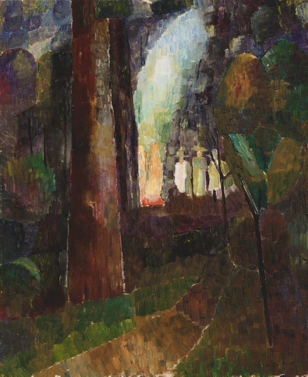 Bonfire in the bush, (circa 1937) by Grace Cossington Smith :: The Collection :: Art Gallery NSW