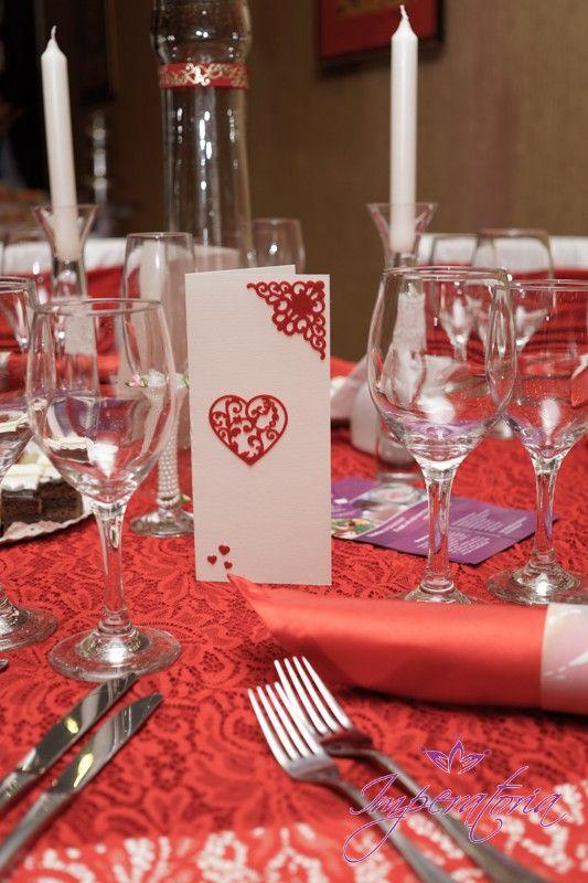 Invitatii handmade, meniu, filigran de catifea www.imperatoria.ro