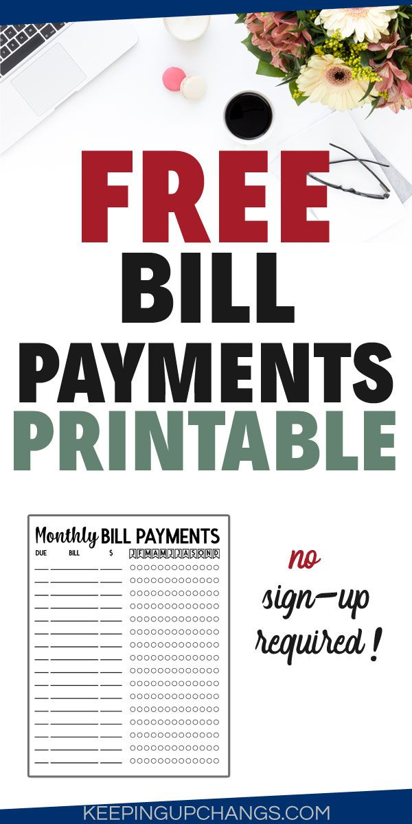 Free Bill Payment Checklist Printable Minimalist Black And White Printer Friendly Monthly Bill Bill Payment Checklist Bullet Journal Print Budget Printables