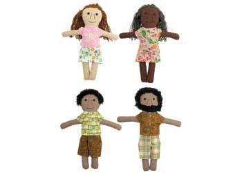 Contemporary Aboriginal Dolls – Set of 4 - Aboriginal Dolls