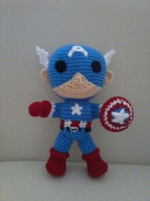 Creaciones y tejidos de Maggie: Capitan America