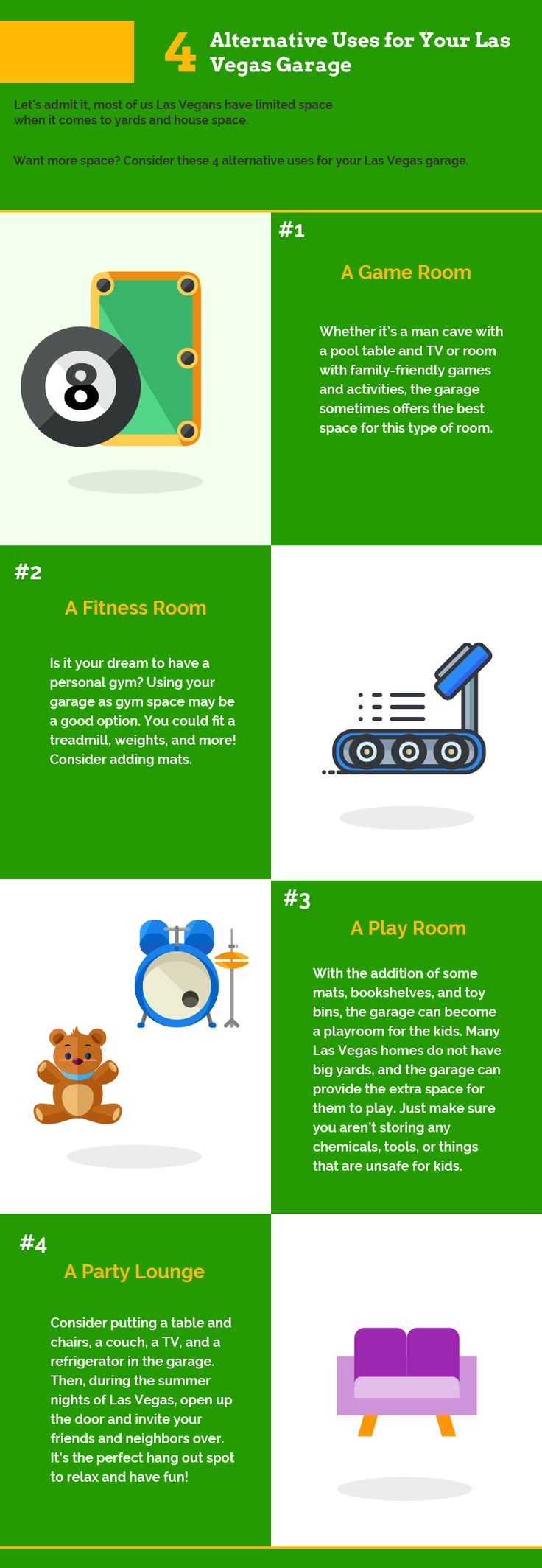 17 best infographics images on pinterest info graphics 4 alternative uses for your las vegas garage infographic precision garage door las vegas rubansaba