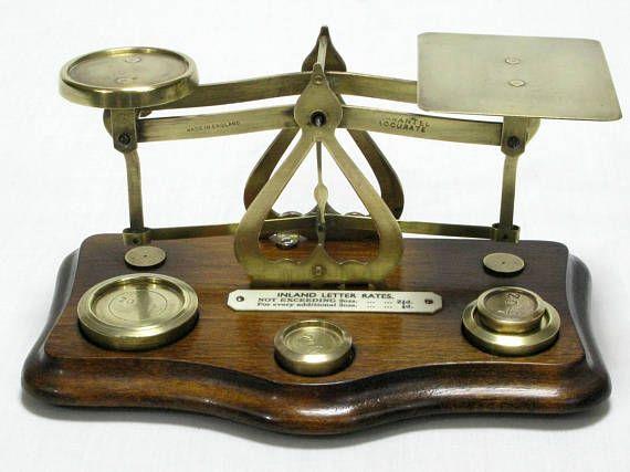 Postal Scales Brass Postal Scales English Postal Scales
