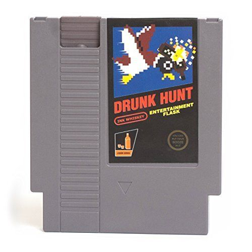Discounted Drunk Hunt Video Game Cartridge Flask