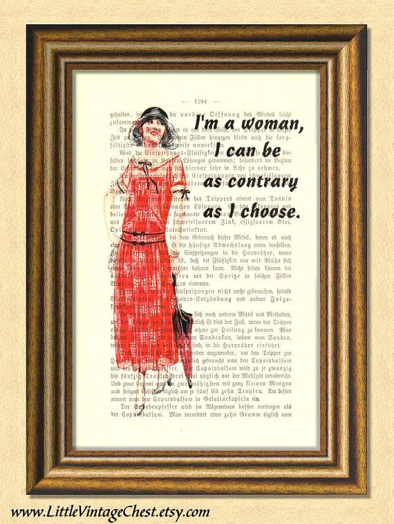 DOWNTON ABBEY WOMAN  Dictionary art Vintage by littlevintagechest, $7.99
