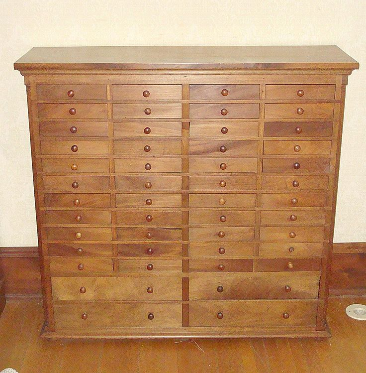 Mahogany Specimen Cabinet With Forty Four Small Drawers Over