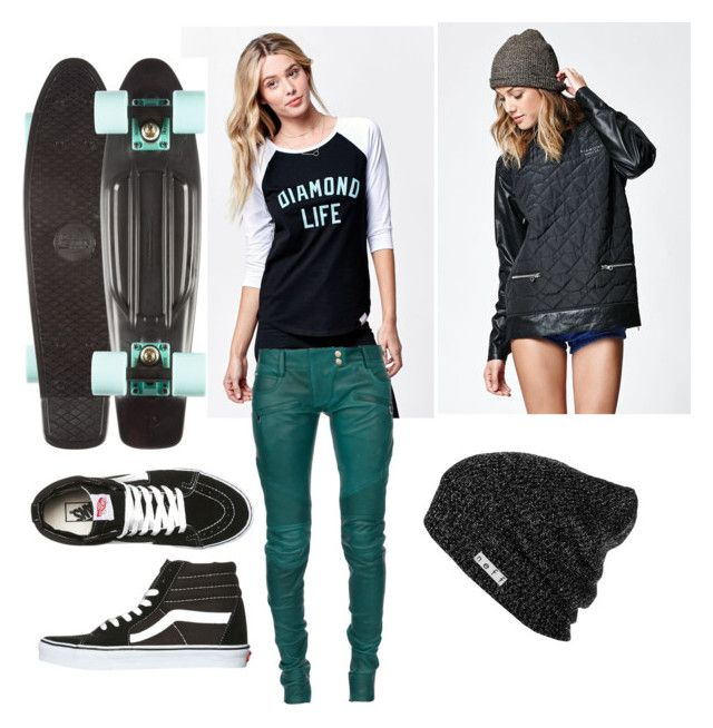Skate life 1 by truownssky on Polyvore featuring polyvore, fashion, style, Diamond Supply Co., Balmain, Vans, Neff, women's clothing, women's fashion, women, female, woman, misses and juniors