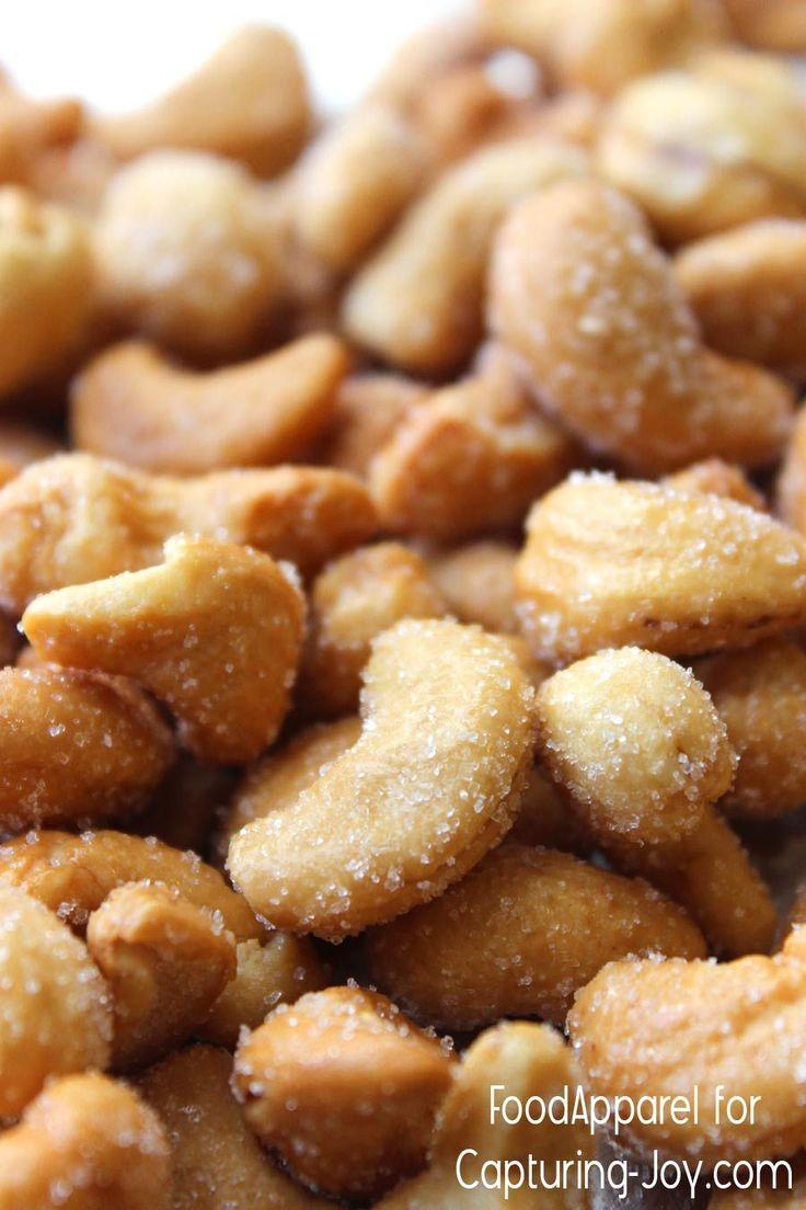 Honey Roasted Cashews Recipe - easy and healthy snack @foodapparel