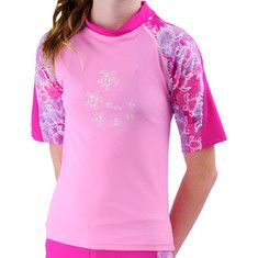 Tuga - Offshore Short Sleeve Top (Girls') - Ruby - My collection from top #designers
