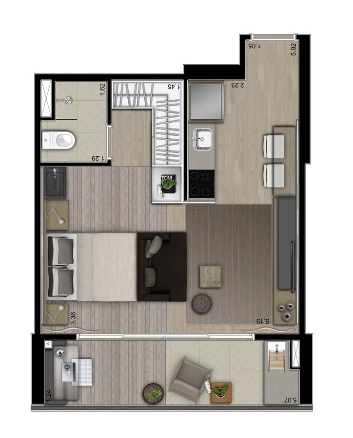 Small Apartment Layout Part 49