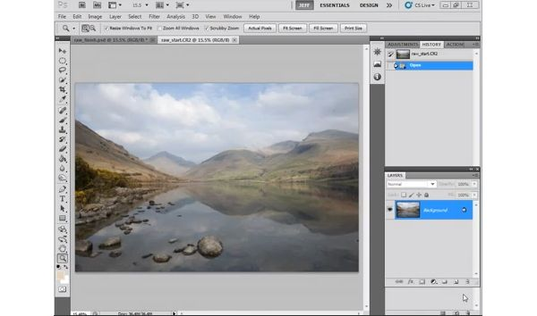 Learn how to improve landscape photos in ten minutes with Photoshop's built-in raw file converter, Adobe Camera Raw